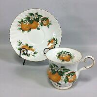 Florida Oranges Elizabethan Tea cup and Saucer Set made in England Vintage