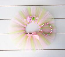 SALE! Light Pink & Green Cake Smash Outfit - 3 Piece First Birthday Tutu Set