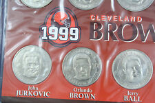 1999 Cleveland Browns Complete 8 Piece Medallion Set