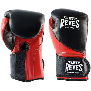 Cleto Reyes High Precision Hook and Loop Training Boxing Gloves - Black/Red
