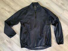 Oakley Solid Black Mens Size XL Full Zip Zip-Pocket Jacket $190