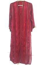 Vintage Traditional Moroccan Caftan Sheer Patterned Silk