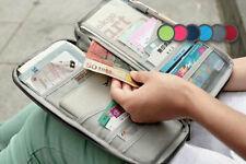 Nueva Billetera Cartera Bolso De Viaje Organizador De Documentos Con Cremallera entradas de pasaporte id titular