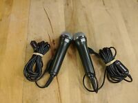 (2) Rock Band USB Microphone for PS2/PS3, Xbox 360, & Wii