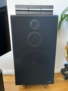 Set of 2 Fisher ST-925 Gemini Stereo Speakers (Wood cabinet) & Cassette Cabinets