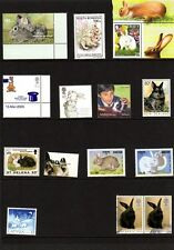 Rabbits on Stamps and Postal Card Worldwide Mixture