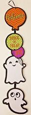 """Halloween Decor Wall Door Sign Hangs 22""""-Glitter Ghosts Welcome Trick or Treat w"""