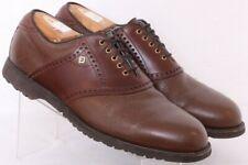 Footjoy 55584 Classic Dry Brown Golf Brogue Saddle Oxford Shoes Men's US 10.5D