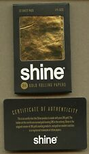 Shine 24K Gold Rolling Paper 12-sheet Pack 1 1/4 size with COA