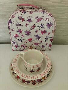 Emma Bridgewater Dancing Mice Carrying Case with 3 piece melamine set used