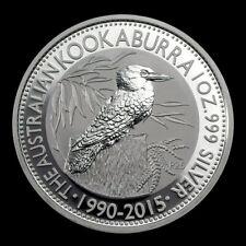 2015 1 oz Silver Australian Kookaburra Anniversary GEM BU Coin Perth Mint #2