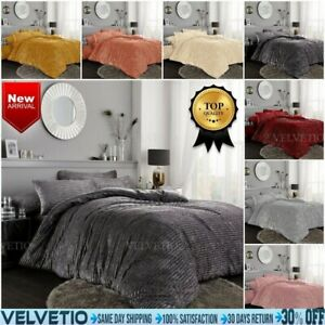 Teddy Bear Fleece Duvet Cover Soft Warm Cosy Shiny Quilt Bedding Set Double King