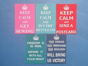NEW Keep Calm and.... Style Postcards, Various Quantities and Styles Available