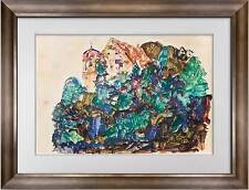 "Egon SCHIELE Lithograph SIGNED Dated #'ed Limited Edition  ""..Castle at Bregenz"""