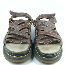 VTG Dr. Doc Martens Brown Fisherman Sandals Leather AirWair Women 7, EU 38, UK 5