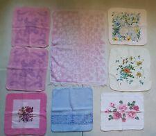 8 Vintage Pink White Blue Purple Floral Flowers Bathroom Wash Hand Towels Lot