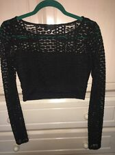 GUESS Women's Stretch Lace Crop Top Medium