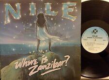 Nile: Where in Zanzibar? LP Vinyl Record RARE (PROMO?) BIG 2001 GD+ free shippng