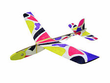 Lanyu Hand Launch Balsa Wood Glider Plane DIY Build&Paint Model Kit, US 8031