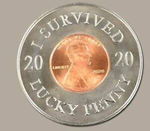I Survived 2020 Lucky 2020 U S Penny Ball Marker - Brand New Hot off the Press!!