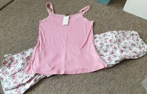 NEW Blooming Marvellous pink floral pyjama set size 16
