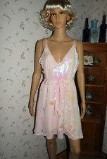 Sequin and Floral Pink Sheer Dress by Sacred Hawk Size M NEW W/TAGS