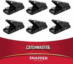 Catchmaster Jumbo Snapper East Set Rat/Mouse Snap Trap - 6 Pack