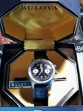 Serviced Vintage 1971 BULOVA Chronograph 666 Panda Diving Watch VALJOUX 7733 Box
