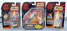 Star Wars Episode 1 R2D2 & Destroyer Droid + Deluxe Obi Wan Kenobi Hasbro 98 NIB