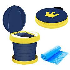 Kids Potty Portable Travel Toilet Potty Emergency Toilet 15 Waste Bags Camping