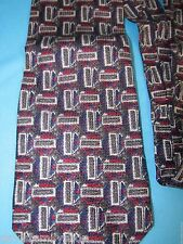"Alfani Geometric Abstract Multi-Color Neck Tie 100% Silk 55""L 3.75""W"