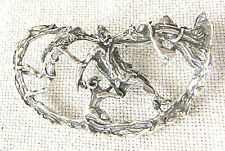 """Judaica Old silver sterling 925 """"The Binding of Isaac (Aqedat Yitzhaq)"""" pendant"""