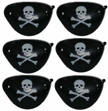 12 Pirate Eye Patches - Pinata Toy Loot/Party Bag Fillers Wedding/Kids