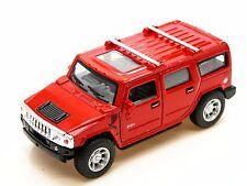 Kinsmart 2008 Hummer H2 SUV (Red) Die Cast Metal 1:40 Collectable Car