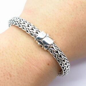 "John Hardy 925 Sterling Silver Classic Chain 7.5MM Icon Bracelet 6.5"""