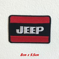 Jeep Automobile 4x4 Motorsports Biker badge Iron Sew on Embroidered Patch#1595