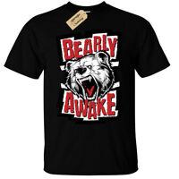 Bearly Awake Mens T-Shirt funny lazy sleepy bear morning person