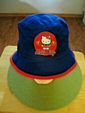"Sanrio ""Hello Kitty"" Child's Cap Cotton Blue&Red White Cat with Sparklers"