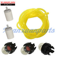 3X Primer Bulb & Fuel Line Filter For Husqvarna 455 Rancher 460 445 450 435