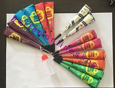14 mix color Herbal Henna Cones Temporary Tattoo kit Body Art color  Mehandi ink
