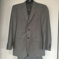 Mens Gray Dress Suit Jacket Pants 38R Jos A Banks Tailored Fit