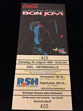 BON JOVI-BILLY IDOL-UNUSED CONCERT TICKET-GERMANY-1993