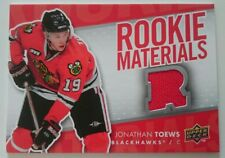 07-08 Upper Deck Jonathan Toews Rookie Materials Jersey Card Chicago Blackhawks
