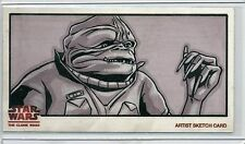 Topps STAR WARS CLONE WARS Widevision SKETCH by JOE CORRONEY