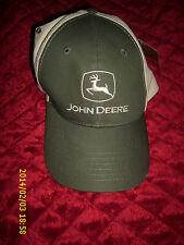 JOHN DEERE  HOOK & LOOP TAPE HAT - CAP ONE SIZE FITS MOST