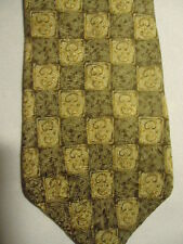 Gap Tan Brown Checker Designs Silk Tie 57""