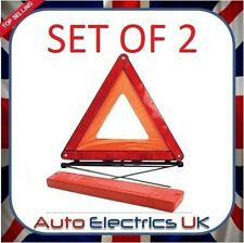 2 X Large Reflective Car Warning Triangle Breakdown Hazard Road EU Emergency NEW