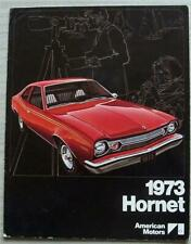 AMERICAN MOTORS AMC HORNET USA Car Sales Brochure 1973 #AMX 7302