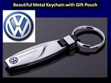 VW Key Ring NEW STYLE Volkswagen Polo Golf Passat CC Eos Keyring + Gift Pouch