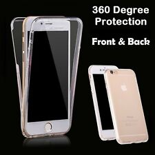 Transparent Crystal Clear 360 Degree tpu gel Case Cover for apple iphone 8 plus